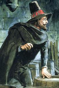 Guy Fawkes, depicted c. 1900