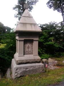 The monument to the 22nd Massachusetts, placed in 1886, is located on Sickles Avenue.