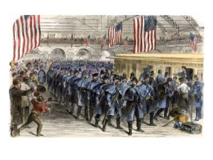 The 6th Massachusetts on their way to Washington, April 1861.