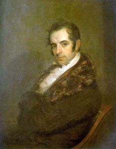 Washington Irving (1783-1859) in 1809, the year he published his account of St. Nicholas.