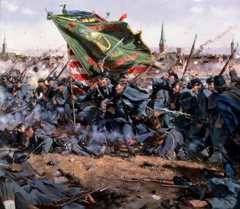 """Clear the Way,"" by Don Troiani. The 28th Massachusetts at Fredericksburg"