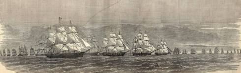 The Stone Fleet headed towards their doom, December 1861