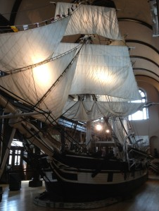 The Lagoda in the Bourne Building of the New Bedford Whaling Museum is the largest ship model in existence