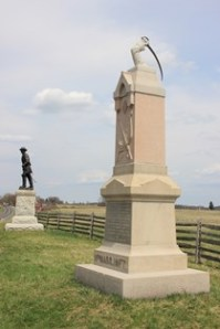 The restored 11th Massachusetts monument, April 2013. National Park Service photo.