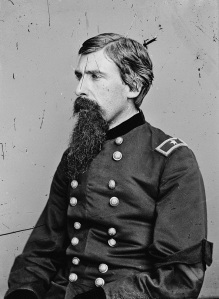 Col. Adin Ballou Underwood (1828-1888) commanded the 33rd Massachusetts at Gettysburg. This photo was taken after his promotion to Brigadier General in November 1863.
