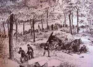 The 22nd Massachusetts on Stony Hill, from the regimental history.