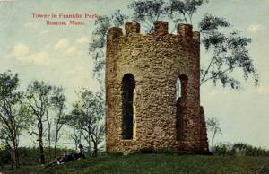 Postcard of Sargent's Folly before the zoo was built.