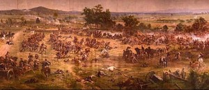 A section of the Battle of Gettysburg cyclorama