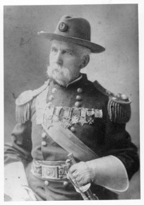 Gen. Joshua Lawrence Chamberlain (1828-1914) late in life. I do believe he is wearing in this photo the Medal of Honor which recently turned up.