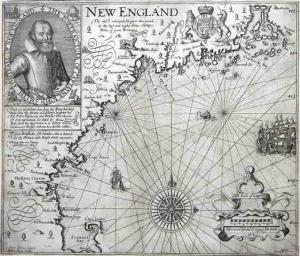 Captain John Smith's map of New England, published 1616