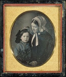 Lidian Jackson Emerson and son Edward Waldo Emerson, c. 1850.