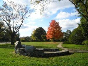 "The ""Revere Capture Site"" in Lincoln, MA where the Three Midnight Riders, Revere, Dawes and Prescott were detained by the Regulars. (NPS photo)"