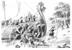 A fanciful depiction of the death of Thorvald