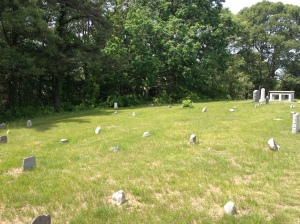 Field stones in Winslow cemetery marking the earliest graves