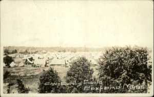 The Boxford camp during World War I, at that time known as Camp Curtis Guild