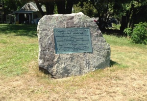The marker on the Bradford Homestead in Kingston, MA