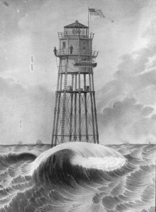 The first Minot Light, built 1850