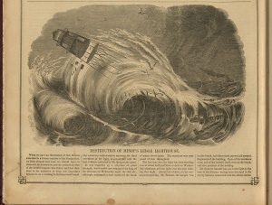 The Destruction of Minot's Ledge Light, from