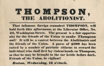 Thompson handbill